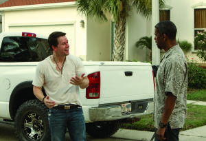 "(L to R) MARK WAHLBERG and Academy Award® winner DENZEL WASHINGTON lead an all-star cast in ""2 Guns"", an explosive action film that tracks two operatives from competing bureaus who are forced on the run together. But there is a big problem with their unexpected partnership: Neither knows that the other is an undercover federal agent."