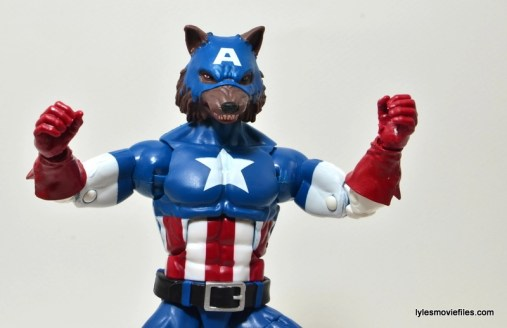 Marvel Legends Captain America review -Cap Wolf profile