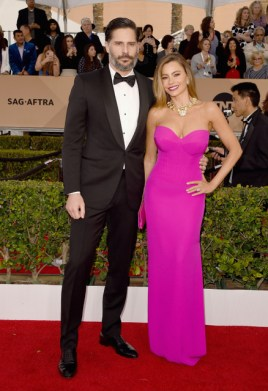 LOS ANGELES, CA - JANUARY 30: Actor Joe Manganiello (L) and actress Sofia Vergara attends The 22nd Annual Screen Actors Guild Awards at The Shrine Auditorium on January 30, 2016 in Los Angeles, California. 25650_015 (Photo by Jason Merritt/Getty Images for Turner) *** Local Caption *** Sofia Vergara;Joe Manganiello