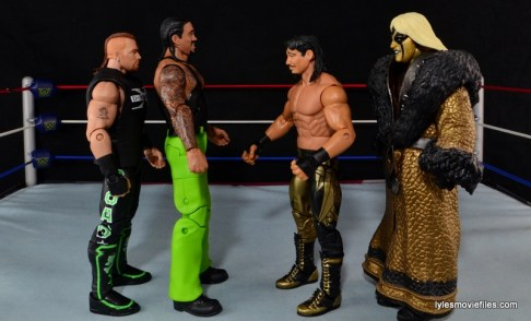 WWE Elite The Godfather review -scale with Road Dogg, Eddie Guerrero and Goldust