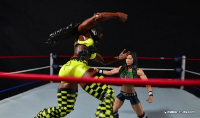 WWE Mattel Basic Naomi figure review -diving at AJ Lee