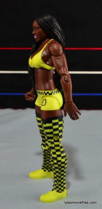 WWE Mattel Basic Naomi figure review -left side