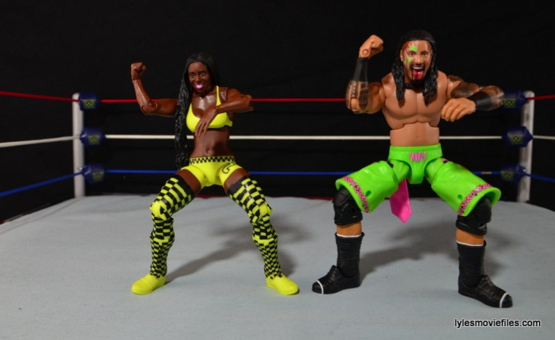 WWE Mattel Basic Naomi figure review -posing with Jimmy Uso