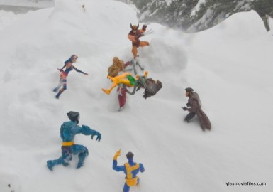 X-Men vs Omega Red snow mountain