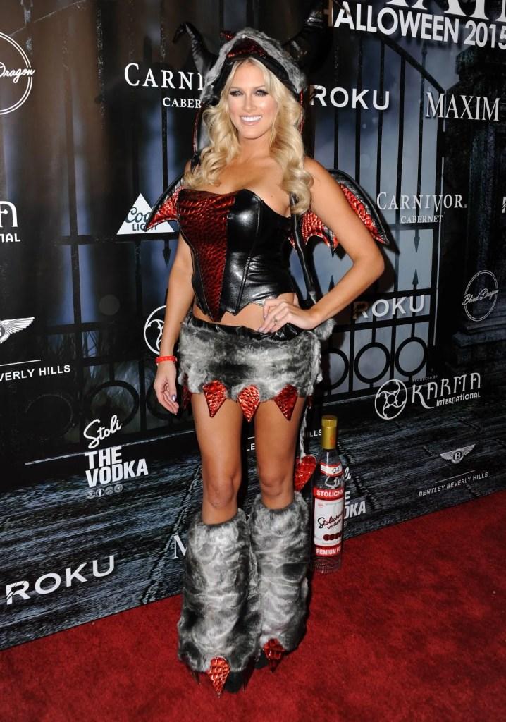 barbie-blank-halloween-party-10-24-2015 ex-wwe diva kelly kelly
