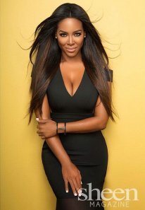 kenya moore black dress