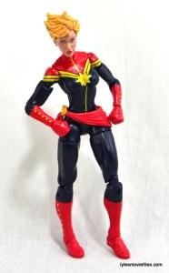 Marvel Legends Captain Marvel figure review - cocky expression