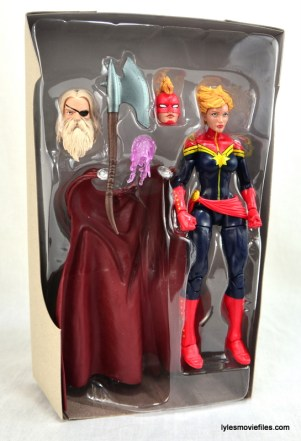 Marvel Legends Captain Marvel figure review - in plastic tray