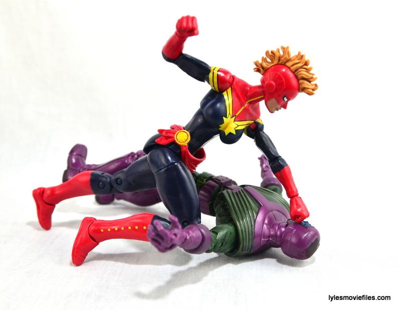 Marvel Legends Captain Marvel figure review - knocking out Kang