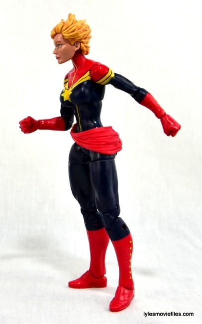 Marvel Legends Captain Marvel figure review - left side
