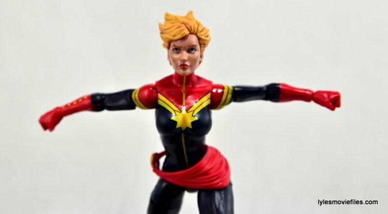 Marvel Legends Captain Marvel figure review - taking off