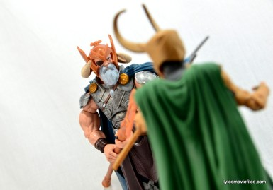 Marvel Legends Odin and King Thor review - facing off with Loki