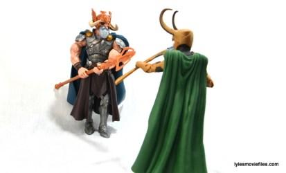 Marvel Legends Odin and King Thor review - Odin vs Loki