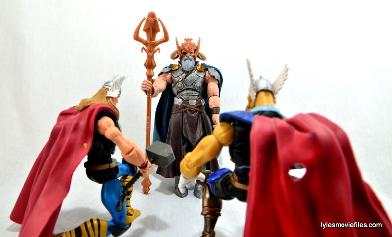 Marvel Legends Odin and King Thor review - Odin with Thor and Beta Ray Bill