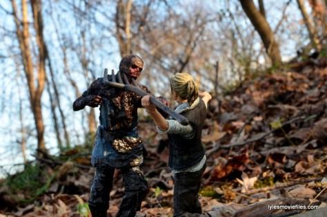 The Walking Dead Andrea figure review - fighting off walker