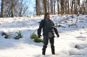 the walking dead eugene figure - in the snow