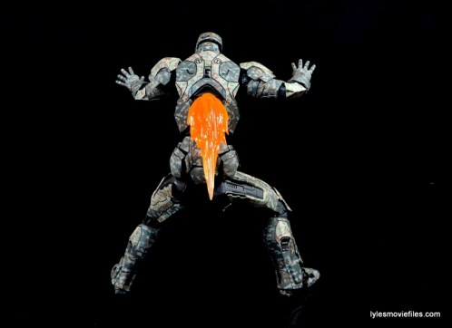 Comicave Studios Iron Man Shades figure review - jet exhaust focus