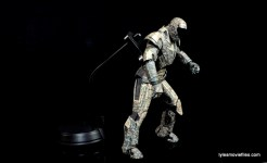 Comicave Studios Iron Man Shades figure review - on flight stand bending