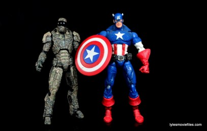Comicave Studios Iron Man Shades figure review - scale with Marvel Legends Captain America