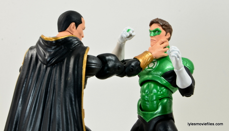 DC Icons Black Adam review - choking out Green Lantern