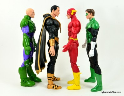 DC Icons Black Adam review - scale with Lex Luthor, Flash and Green Lantern