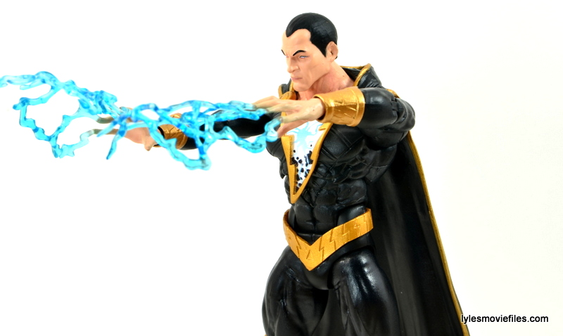 DC Icons Black Adam review - using lightning