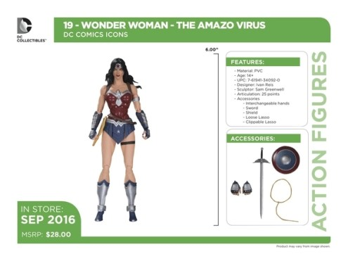 DC Icons Wonder Woman accessories