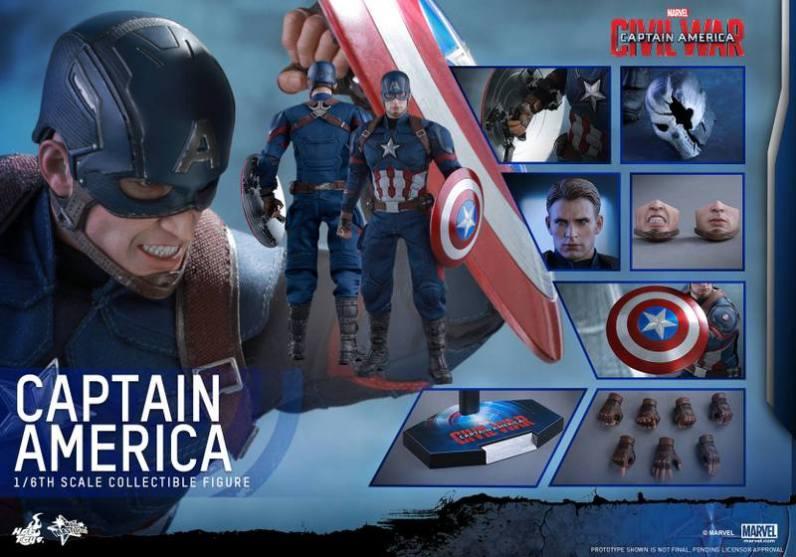 Hot Toys Captain America Civil War Captain America figure -collage