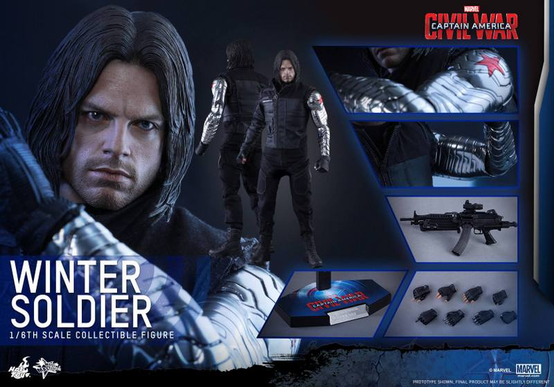 Hot Toys Captain America Civil War Winter Soldier figure -collage