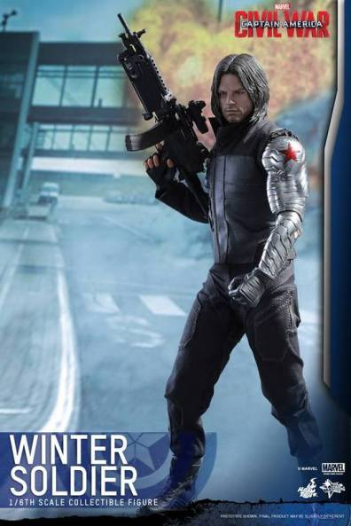 Hot Toys Captain America Civil War Winter Soldier figure -standing tall