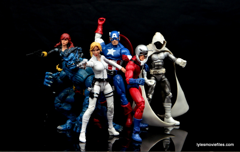 Marvel Legends Sharon Carter figure review - Black Widow, Beast, Captain America, Moon Knight, Ant Man Secret Avengers