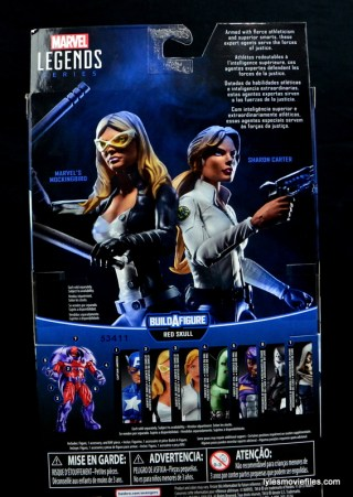 Marvel Legends Sharon Carter figure review - rear package