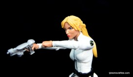 Marvel Legends Sharon Carter figure review - taking aim