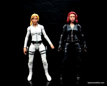 Marvel Legends Sharon Carter figure review - with Black Widow