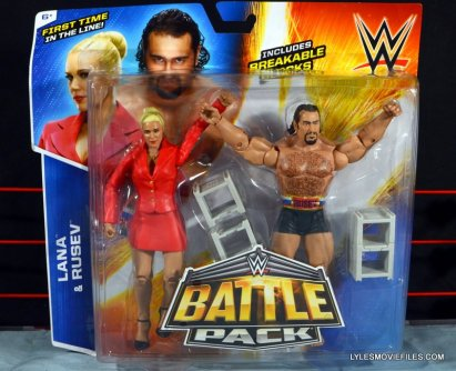 Mattel WWE Lana and Rusev Battle Pack -front package