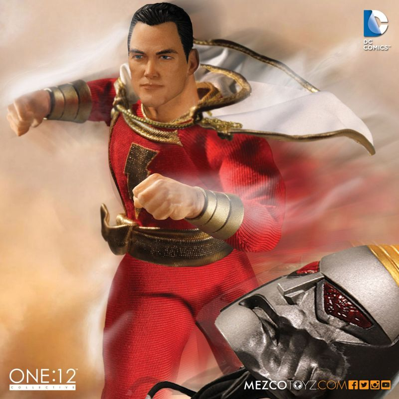 Mezco One 12 Shazam figure - in action