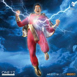 Mezco One 12 Shazam figure - with lightning