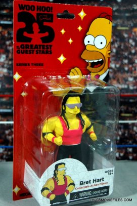 The Simpsons NECA Bret Hart - in package