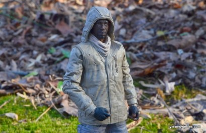 The Walking Dead Morgan Jones McFarlane Toys figure review - hood up