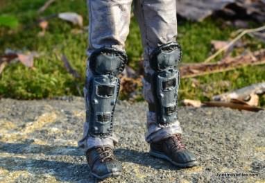 The Walking Dead Morgan Jones McFarlane Toys figure review - shin and boot closeup