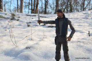 The Walking Dead The Governor McFarlane Toys review -holding butcher knife