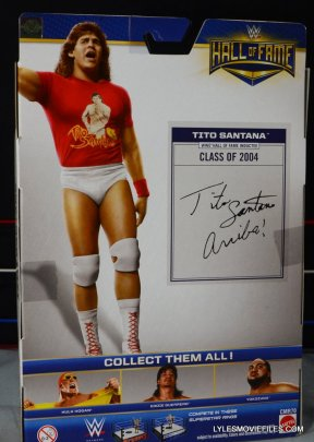 Tito Santana Mattel Hall of Fame figure -rear package