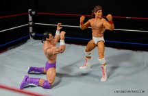 Tito Santana Mattel Hall of Fame figure - with The Model begging off