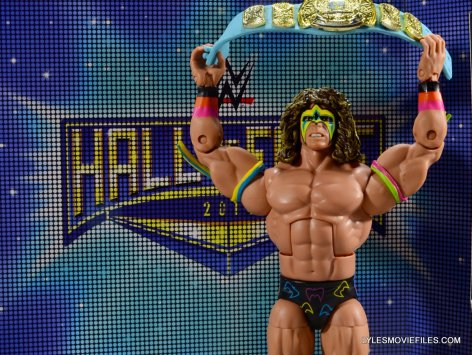 Ultimate Warrior Hall of Fame figure -at Hall of Fame insert