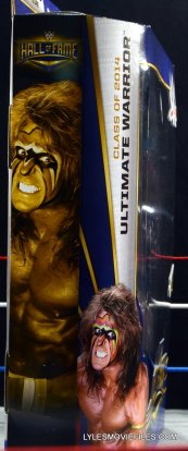 Ultimate Warrior Hall of Fame figure -side package