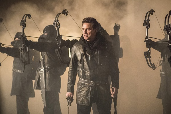 arrow - sins of the father review - merlyn and the league of assassins