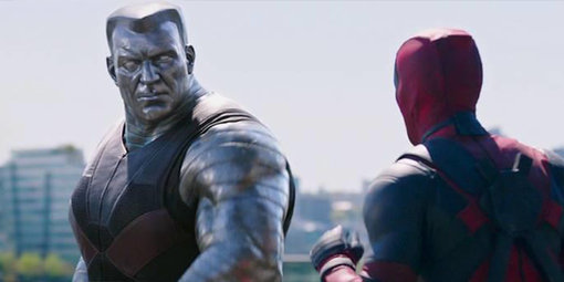 deadpool movie review - colossus and deadpool