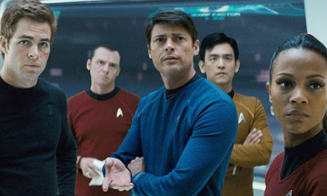 star-trek-2009-movie-chris-pine-as-kirk-simon-pegg-as-scotty-karl-urban-as-bones-jon-cho-as-sulu-and-zoe-saldana-as-uhura