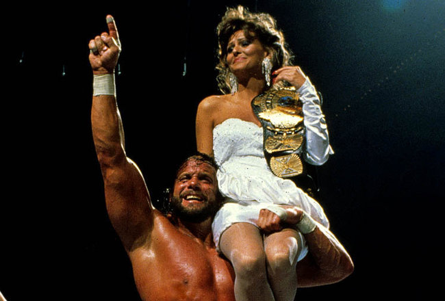 wrestlemania 4 - macho man randy savage and elizabeth