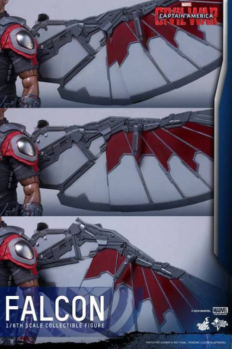 Hot Toys Captain America Civil War Falcon figure -wing range